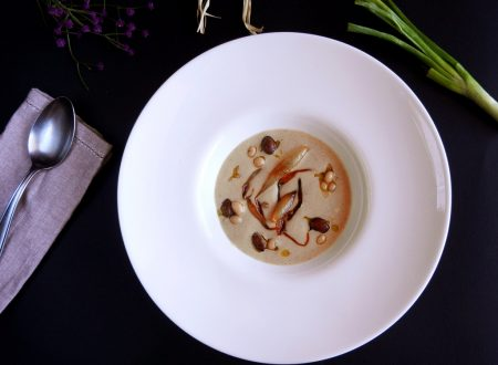 Crema di fagioli con cipolle caramellate