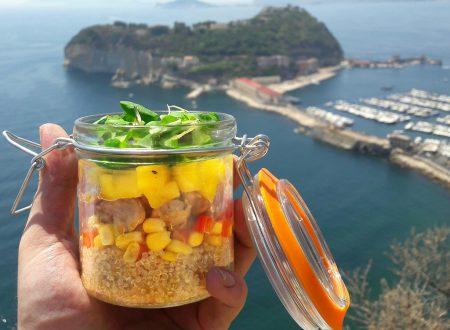 #Boccaccidamare N.1 – Insalata di quinoa e pollo con mango