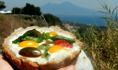 Caprese in crostata di tarallo