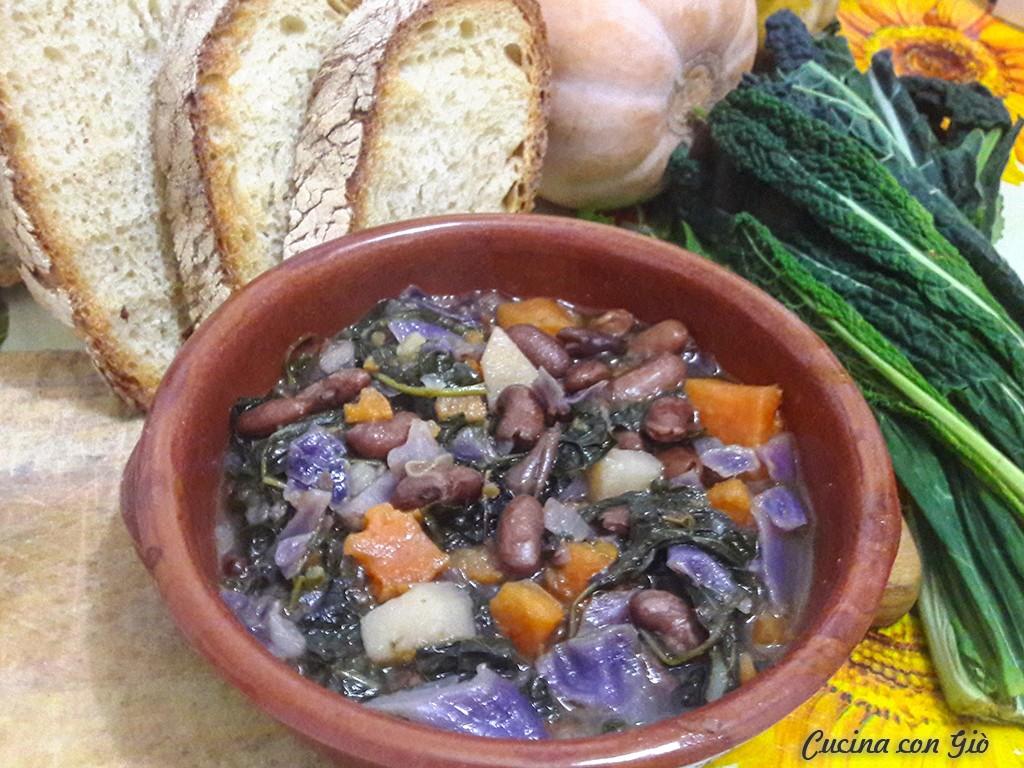 zuppa verdure e legumi