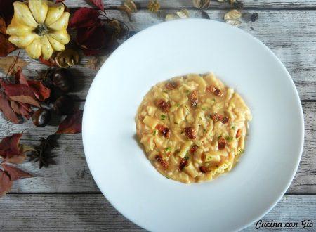 Pasta e patate cremosa con provola e pancetta